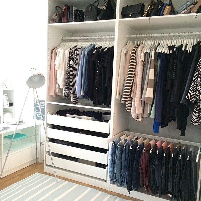 pin von the hamby home auf closet heaven pinterest kleiderschrank pax kleiderschrank und. Black Bedroom Furniture Sets. Home Design Ideas