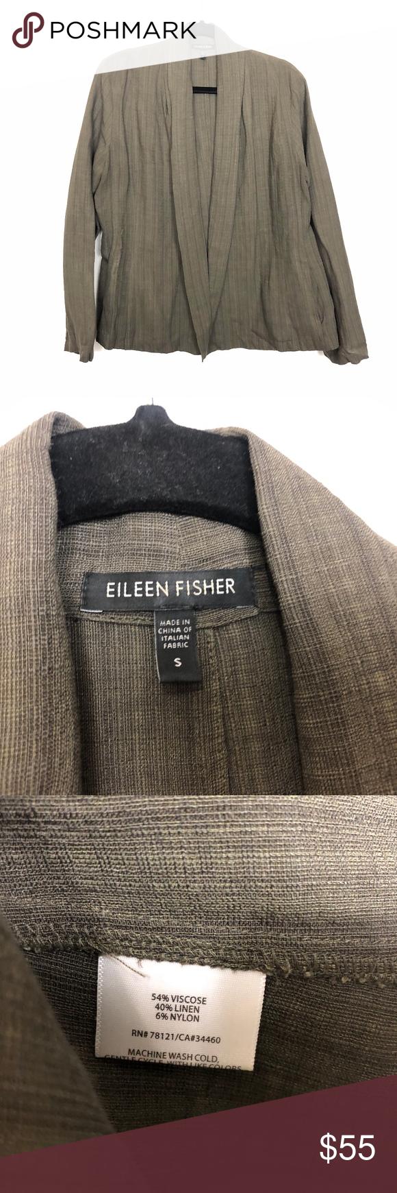 Eileen Fisher Linen Blend Open Front Jacket Eileen Fisher Womens Sz S Dark Olive Open Front Linen Blend Jacket Pock Open Front Jacket Eileen Fisher Linen Blend [ 1740 x 580 Pixel ]