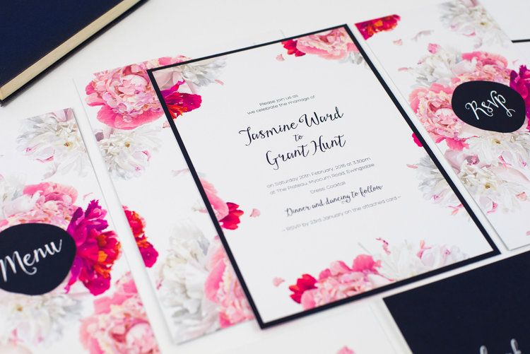 Peony Collection // Watercolour Floral Wedding Stationery