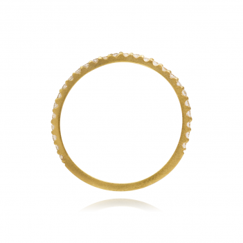 Eternity Zirconia Half Ring Gold