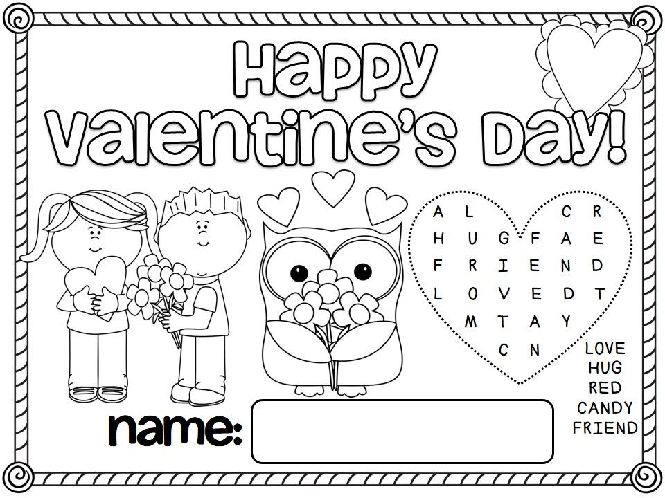 Free ValentineS Day And Friendship Day Placemats To Have Students