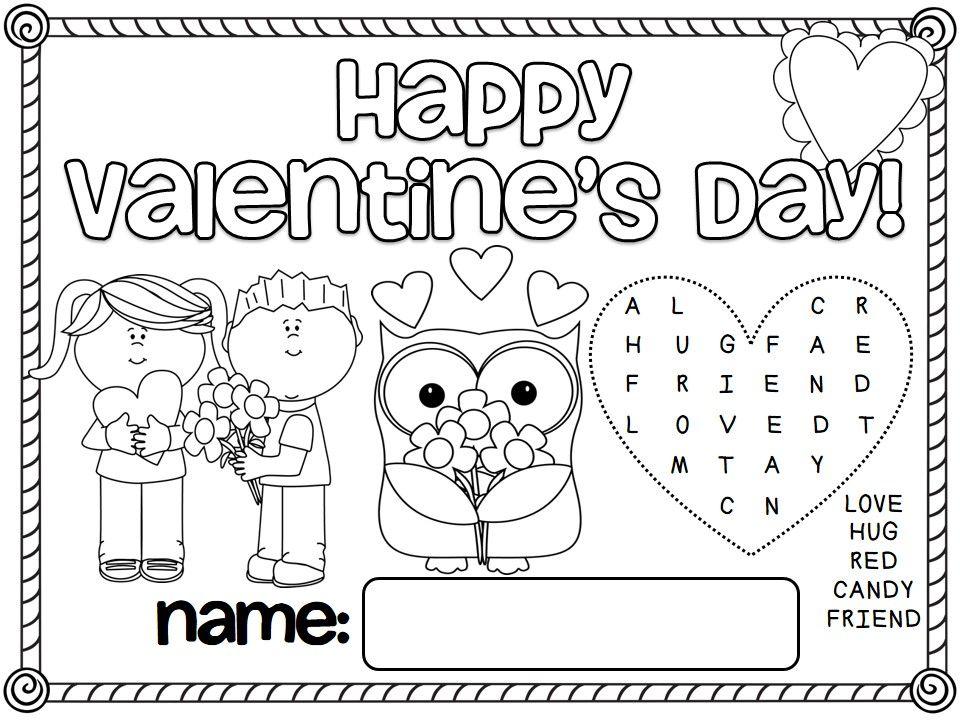 Free Valentine S Day Activity Mats First Grade Freebies
