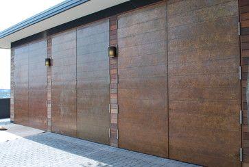 Cowart Door Copper Clad Swing Doors With Patina Contemporary Garage And Shed Door Inspiration Diy Door Hacienda Style