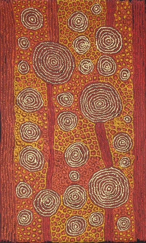 George Ward Tjungurrayi ~ Tingari - Karrkurritinytja (Lake MacDonald), 2011