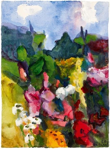 Artwork By Klaus Fussmann Untitled Sommer Im Garten Gelting Made Of Gouache On Paper Painting Art Artwork