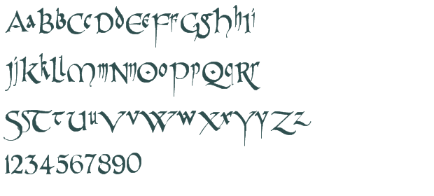 Typeface Styles Pr Celtic Narrow Font Download Free