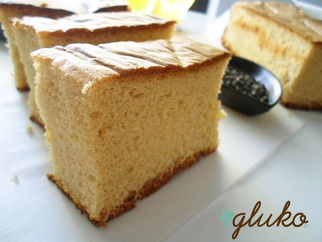 Castella Honey Cake!  A Delicious, Spogne Cake from Japan!  http://www.gluko.gr/castella-honey-cake/