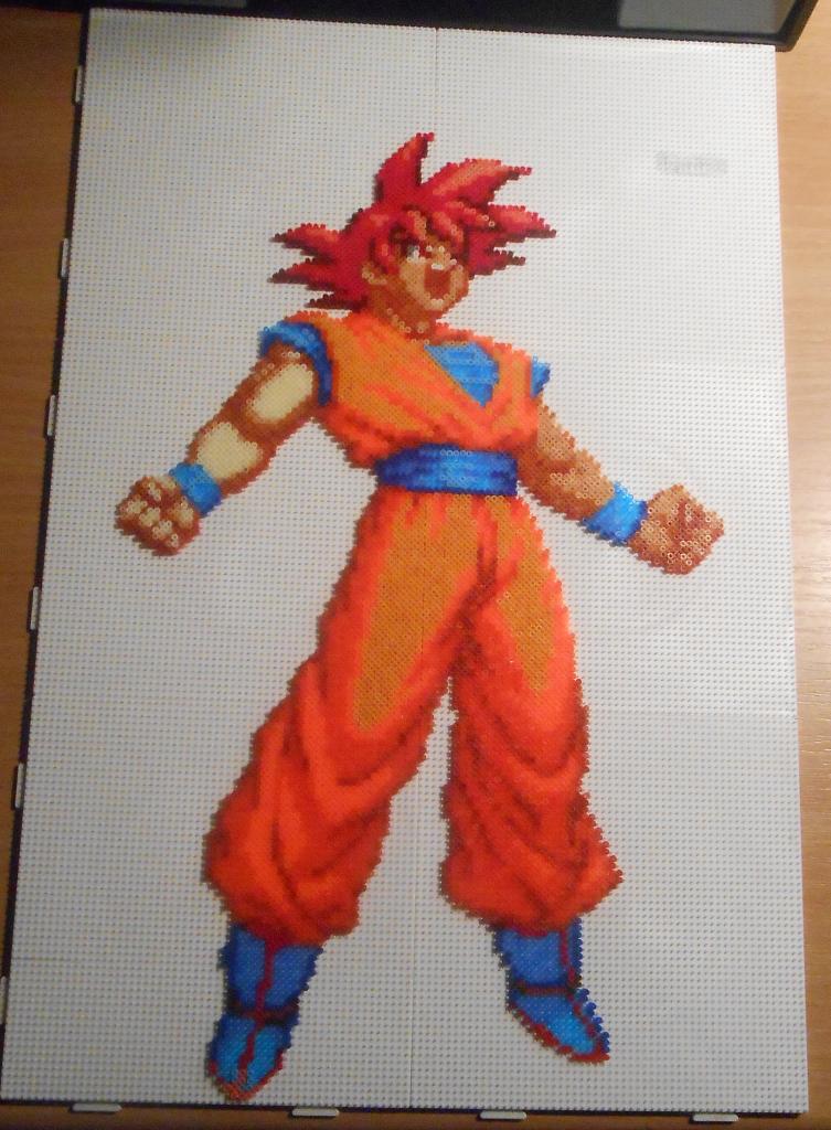 Goku Super Saiyan God Mini Beads Goku Super Saiyan God Dragon Ball Super Manga Goku Super Saiyan