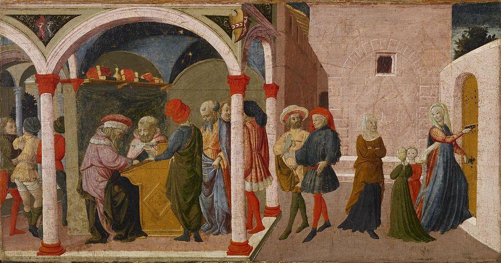 Apollonio di Giovanni di Tommaso - Episodes from the Story of Susannah - Walters 372503.jpg