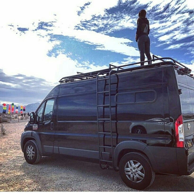 Dodge Promaster Van With Aluminess Roof Rack And Ladder