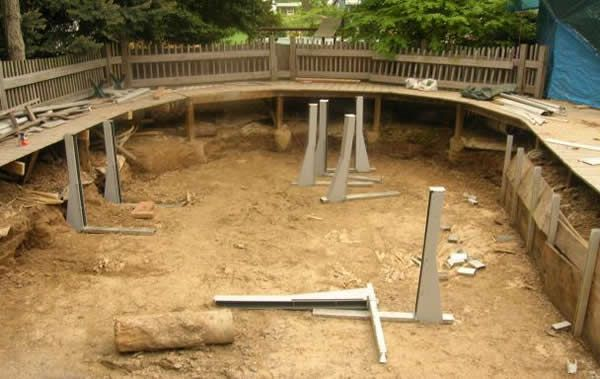 above ground pool decks above ground swimming pool repairreplacement liners and installation