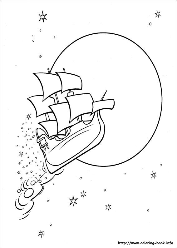 Peter Pan coloring picture | Dibuixos per pintar i construir ...