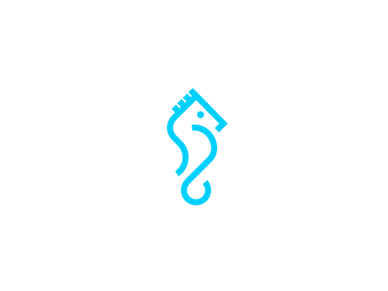Seahorse Logo Pet Logo Design Seahorse Geometric Logo
