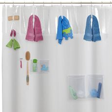 Storage View Peva Shower Curtain Bed Bath Beyond With Images Clawfoot Tub Shower Freestanding Tub Shower Shower Curtain Track