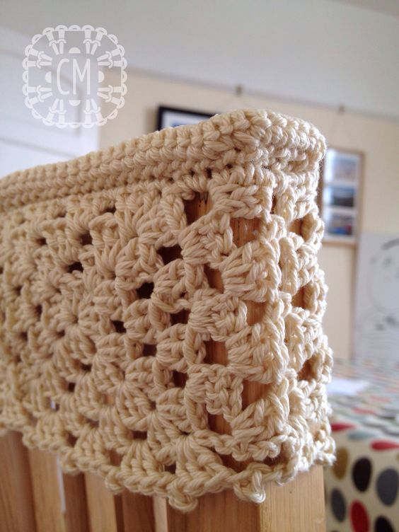 Top Ridge Around Chair Back Cover Chair Back Covers Crochet Crochet Home