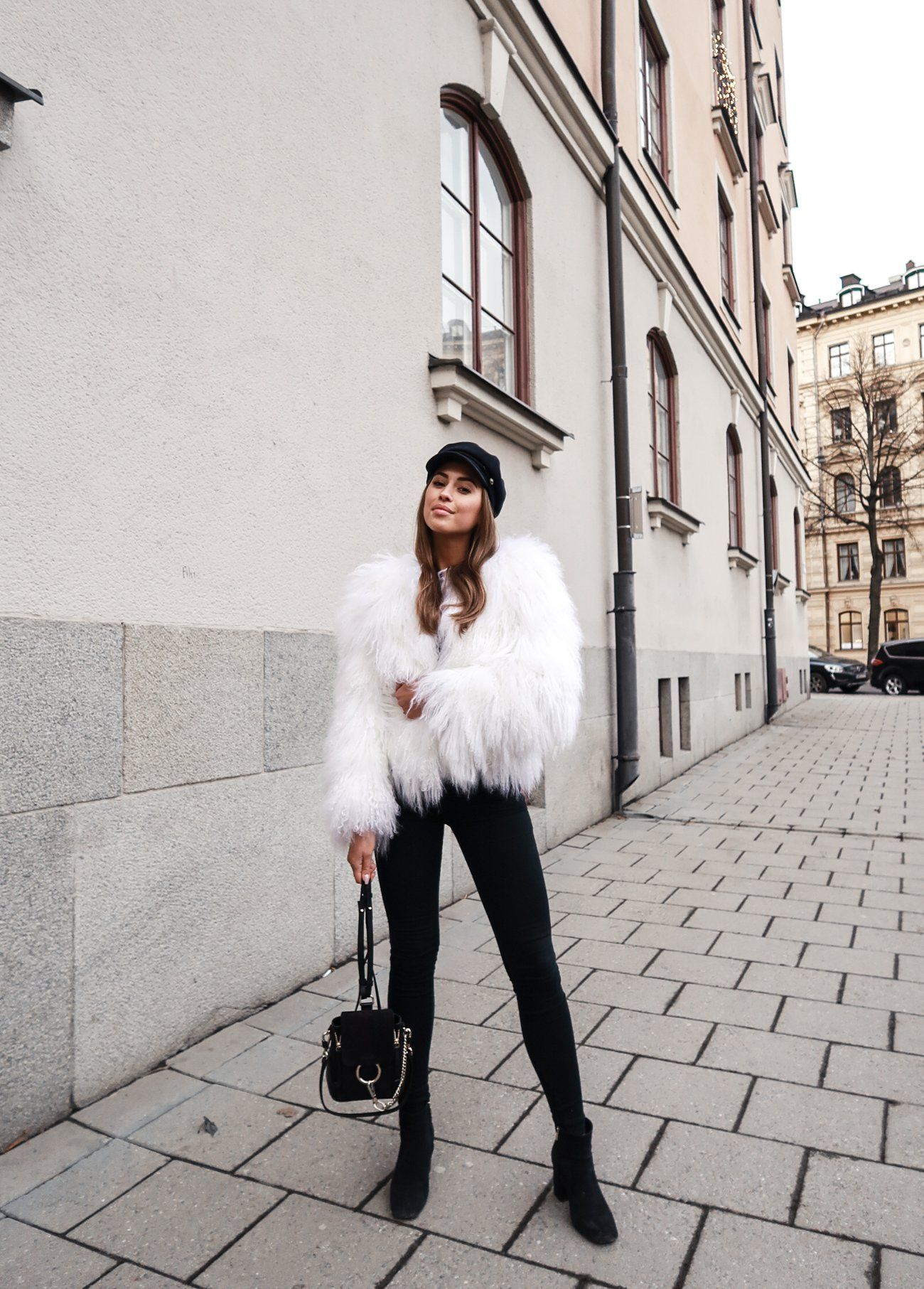 0c920040d2a9 faux fur for real. FASHION BLOGGER STYLE - KENZA  howtochic  ootd  outfit