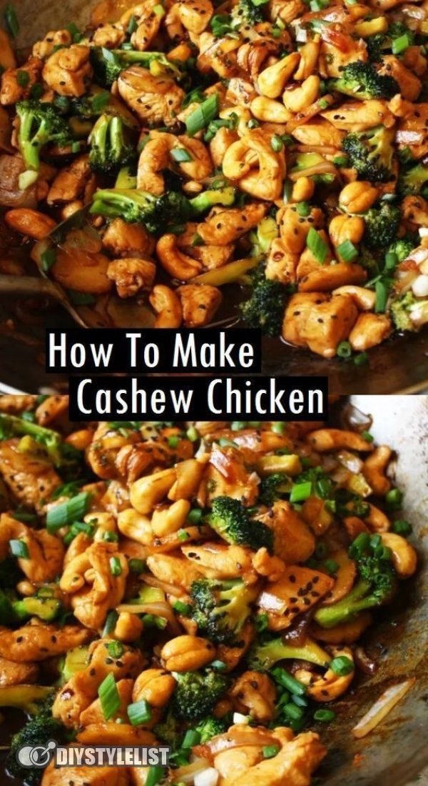 Cashew Chicken {Better than Takeout} | AverieCooks.com.  Better-Than-Takeout Cashew Chicken - Juicy chicken, crisp-tender vegetables, and crunchy cashews coated with the best garlicky soy sauce!! Skip takeout and make your own restaurant-quality meal that's easy, ready in 20 minutes, and healthier!! #Better-Than-Takeout #Cashew #Chicken #cashew