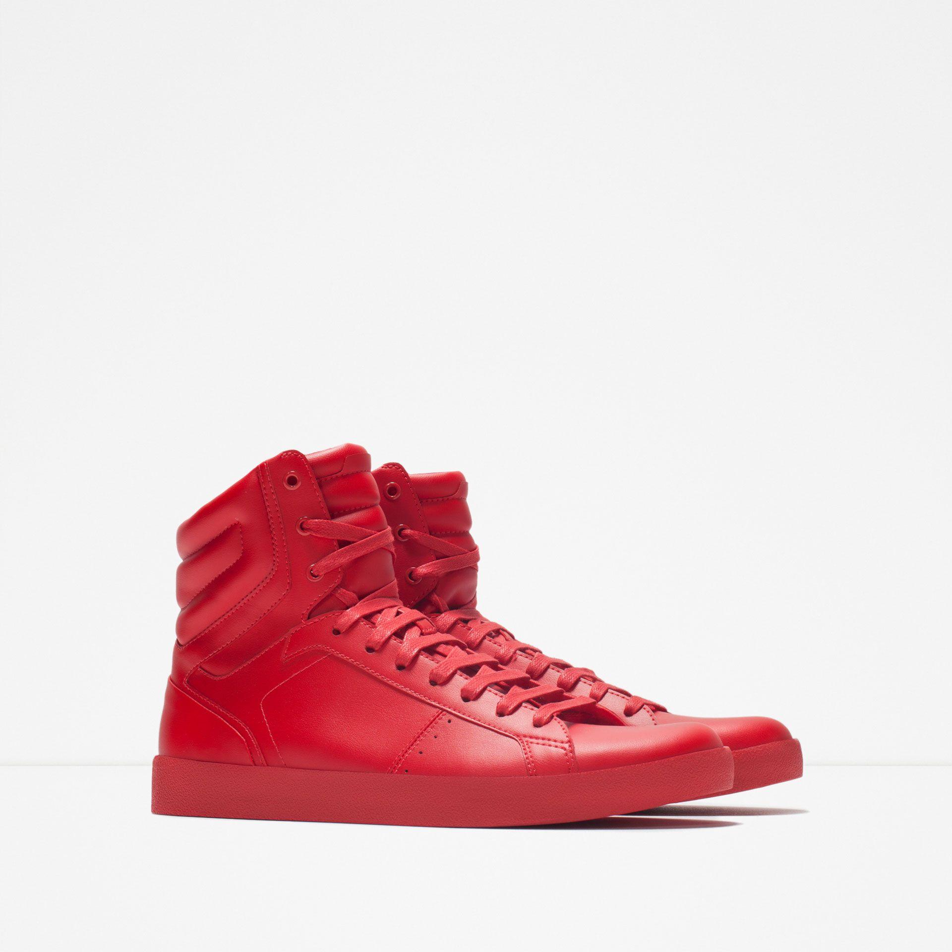Vedi Monocolore UomoZara Scarpe Sneakers Italia Alta Tutto 92DEIH