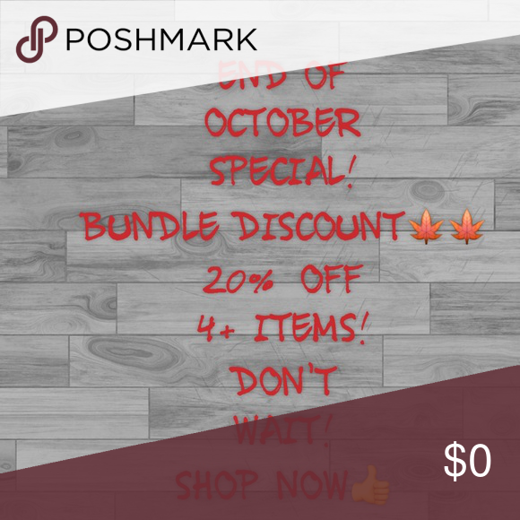SALE!! SALE!! BUNDLE and SAVE! 20% OFF 4+ ITEMS! NOW THRU OCTOBER 31ST! Other