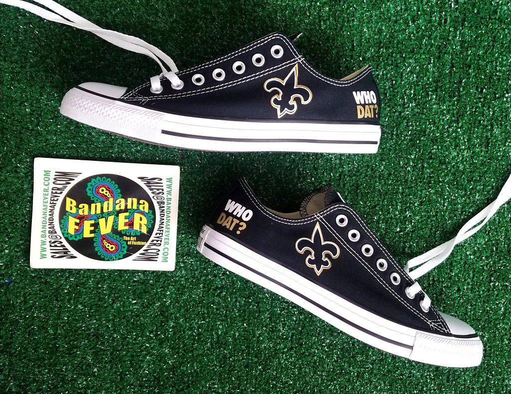 Customized New Orleans Saints Converse Sneakers 9422f2941
