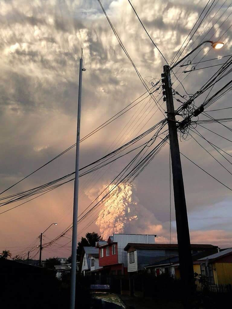 Plumes of ash & smoke erupting from Calbuco in Chile