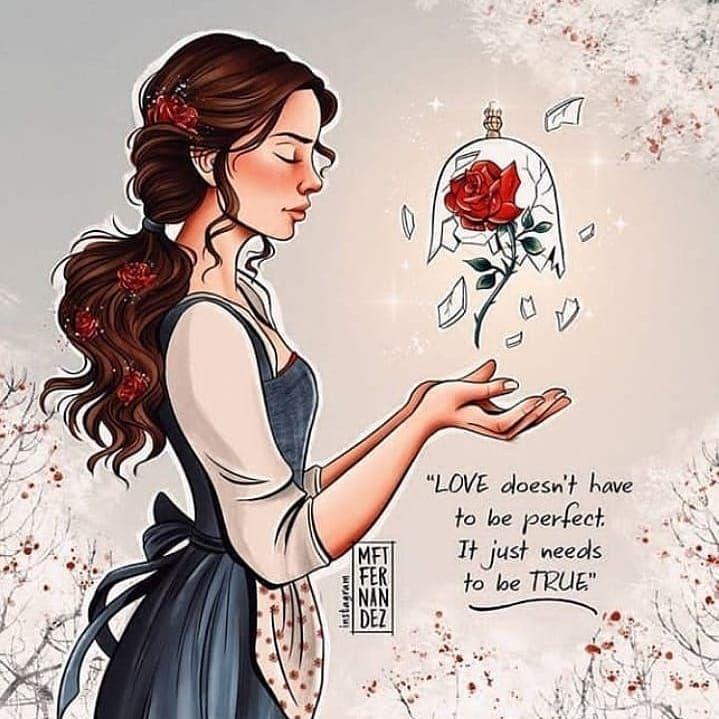 """""""O amor não precisa ser perfeito. Só precisa ser verdade."""""""