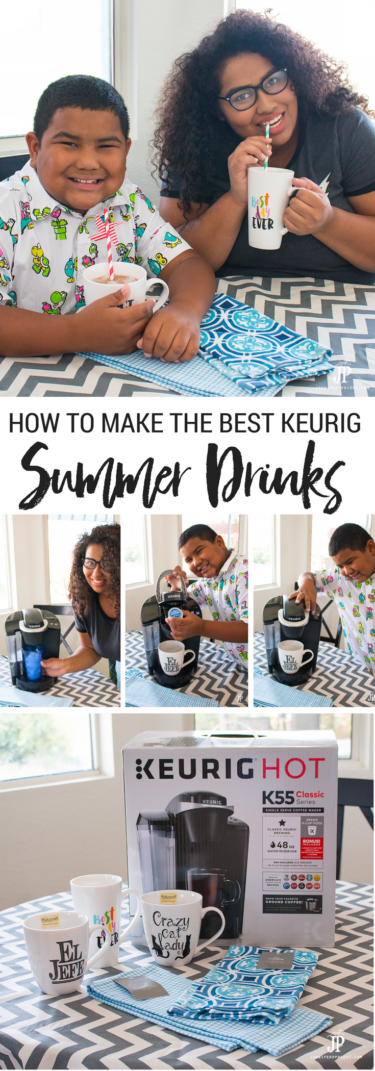 Keurig Summer Drinks - how to make iced drinks, tea with tea bags, and more in the Keurig - make summer drinks for the whole family!! See how: http://www.jenniferppriest.com/summer-drinks-jcpenney-soworthit/ #Soworthit @JCPenney [AD]