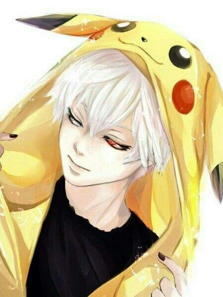 Kaneki with pikachu hoodie tokyo ghoul pinterest - Pikachu dessin anime ...