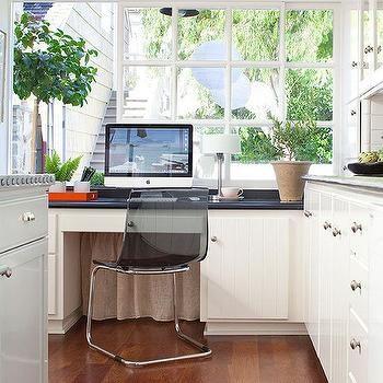 Hidden Desks how to hide desk cords, transitional, kitchen | dream home