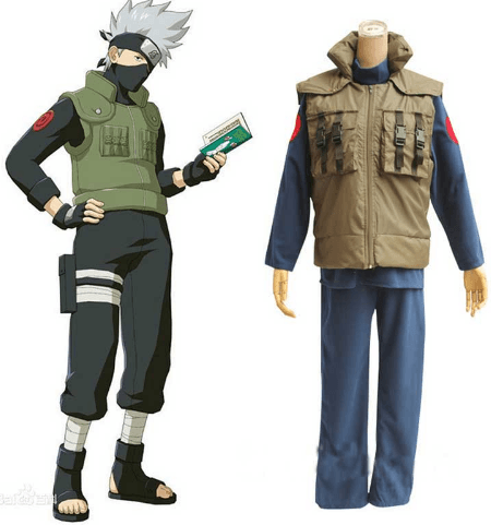 Hot!! Naruto Hatake Kakashi Cosplay Costume Full Set