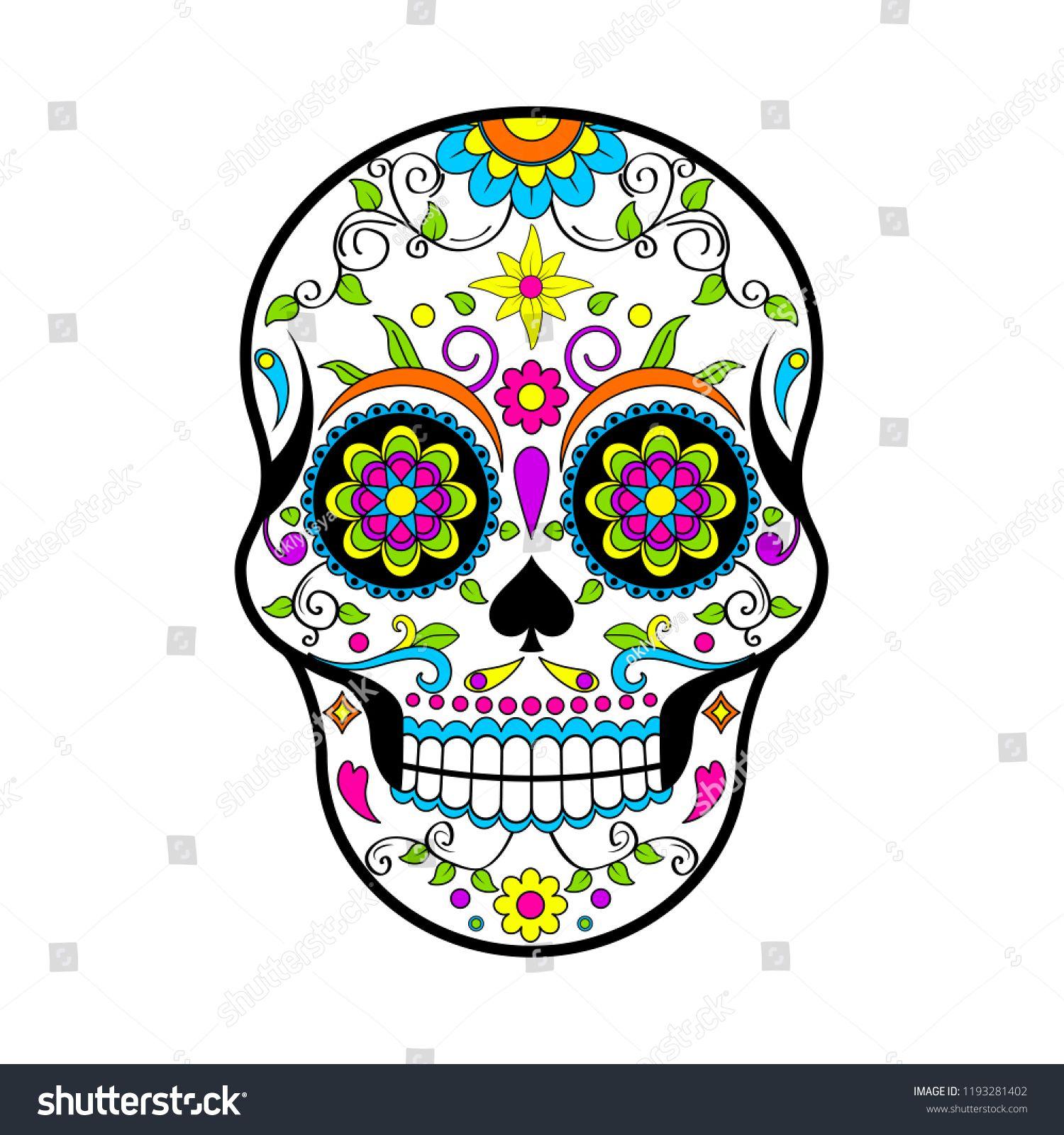 Pin By Selene Cruz Rodas On Halloween Shirts Ideas Mexican Sugar Skulls Sugar Skull Skull