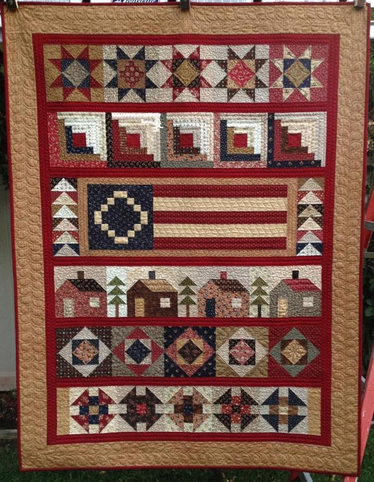 Home Patriotic Quilts Colchas Edredones Telas