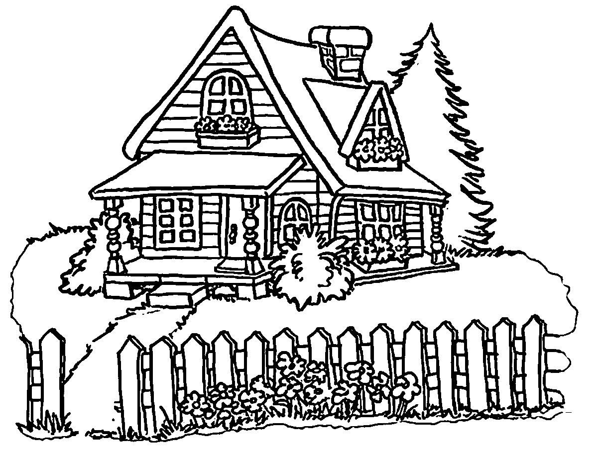 Coloring Page A House House Colouring Pages Coloring Pages Winter Coloring Pages