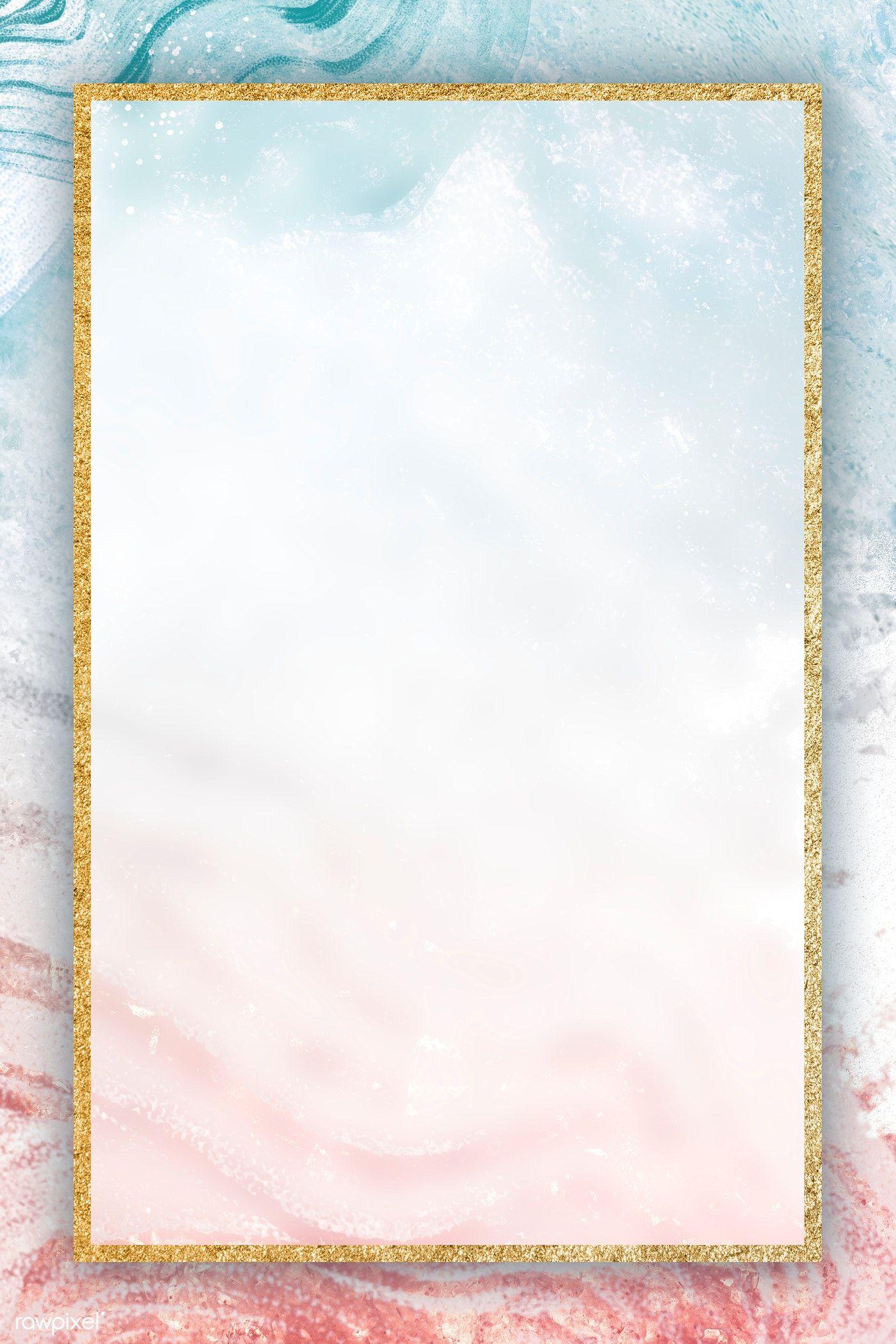 Download Premium Illustration Of Gold Frame On Neo Memphis Social Gold Wallpaper Background Paper Background Texture Nature Paper