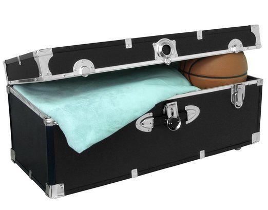 Amazon.com: Seward Trunk College Dorm And Camp Storage Footlocker, Black, 30