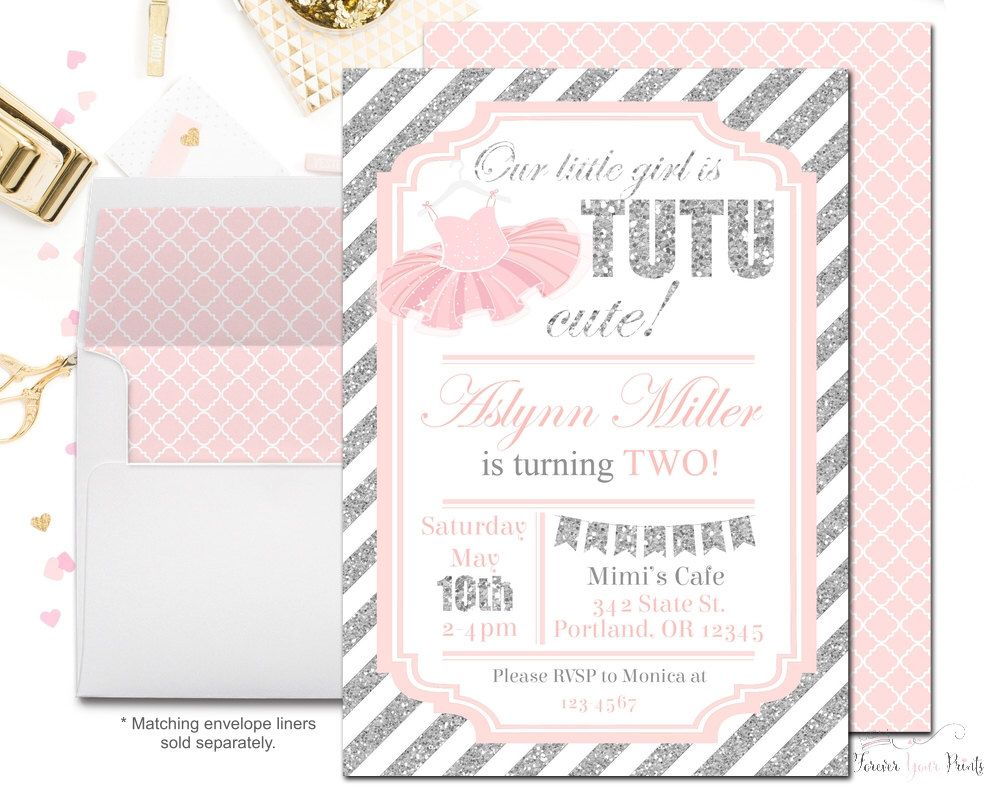 Tutu Party Invitation - Tutu Birthday Invitation - Ballerina ...