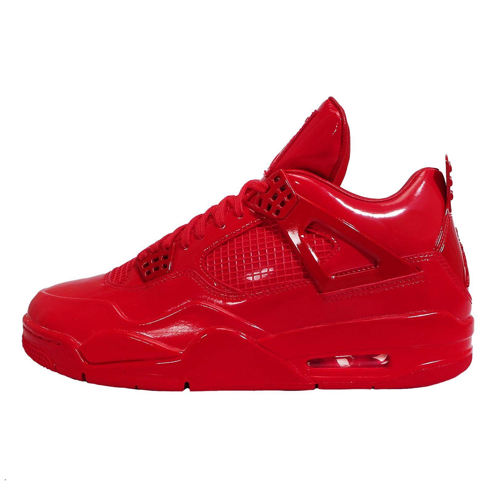 Nike Air Jordan 11LAB4 Rot Patent Sneaker 719864 600 Size 44