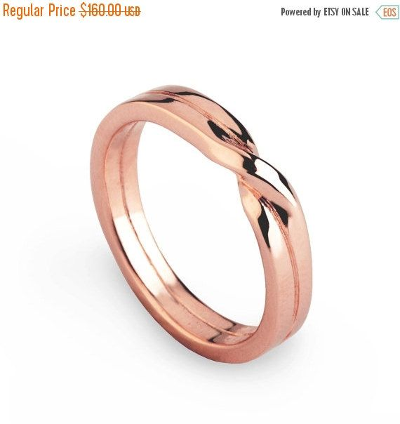 Holidays Sale Love Knot Ring Rose Gold Wedding Band By Aroshamode Love Knot Ring Mens Wedding Bands Unique Wedding Ring Bands