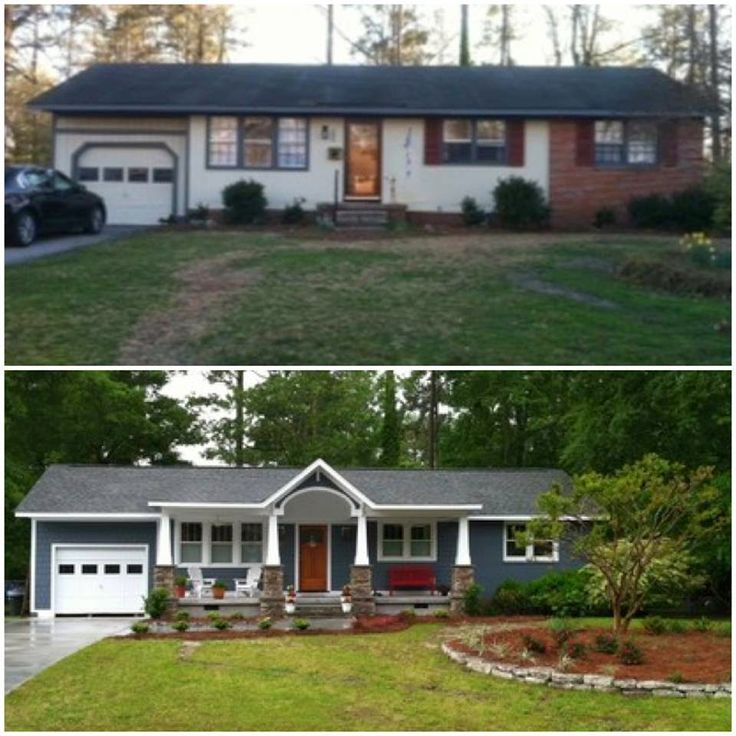 70s Ranch To Craftsman Style Google Search Home Exterior Makeover Ranch House Remodel Ranch Remodel