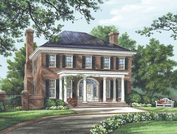 Eplans adam federal house plan the bristol 3280 for Www eplans com