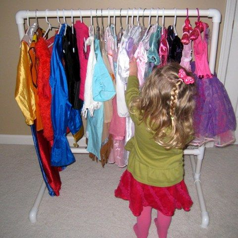diy children 39 s clothing rack made of pvc pipe need this for gabes room diy pinterest diy. Black Bedroom Furniture Sets. Home Design Ideas