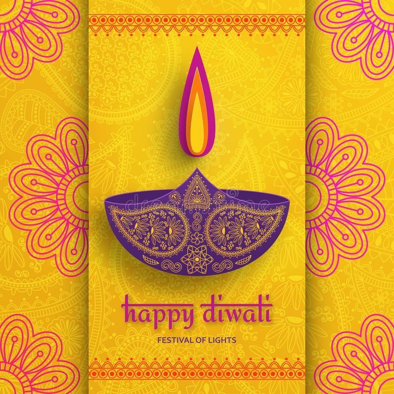 Greeting Card For Diwali Festival Celebration In India Vector Illustration Ad Diwali Festival Greeting Card Diwali Greetings Diwali Diwali Festival