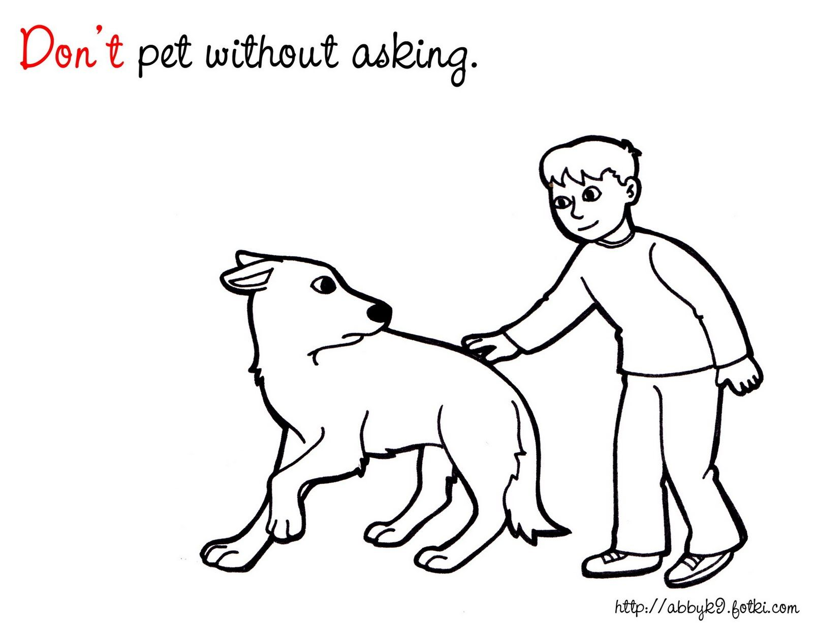Dog Safety Coloring Pages Literature For Kids Dog Safety
