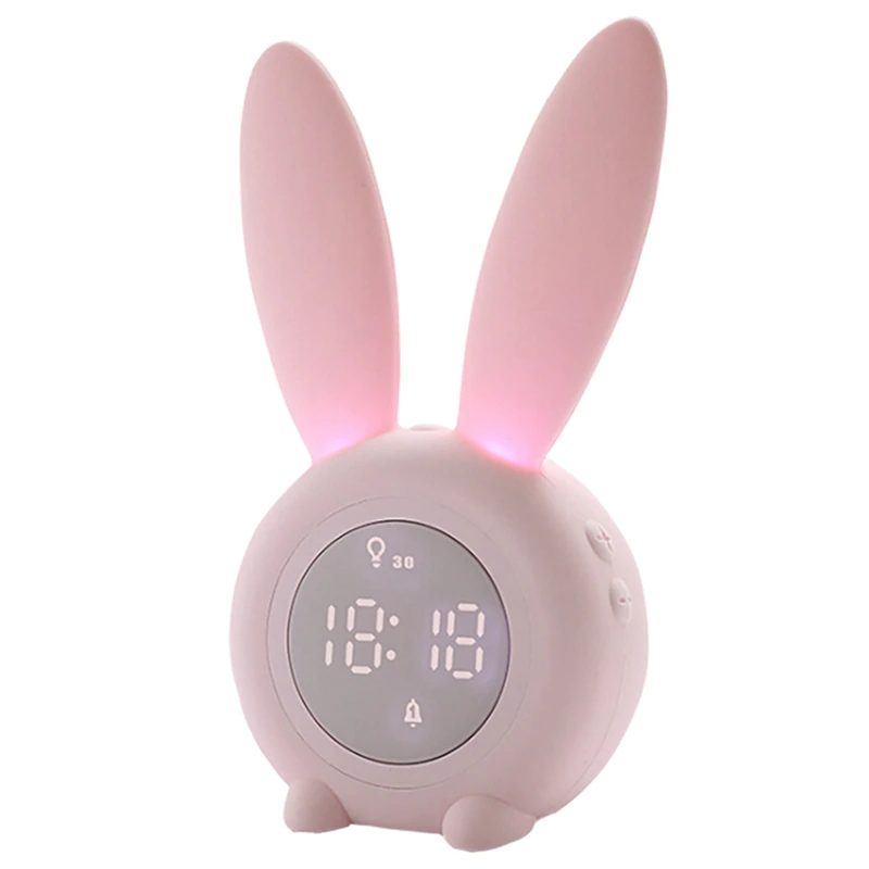 Kids Room Clocks Girls Alarm Clock Samshow Rechargeable Digital Desk Clock With Temperature Humidit Girls Alarm Clock Travel Alarm Clock Digital Alarm Clock
