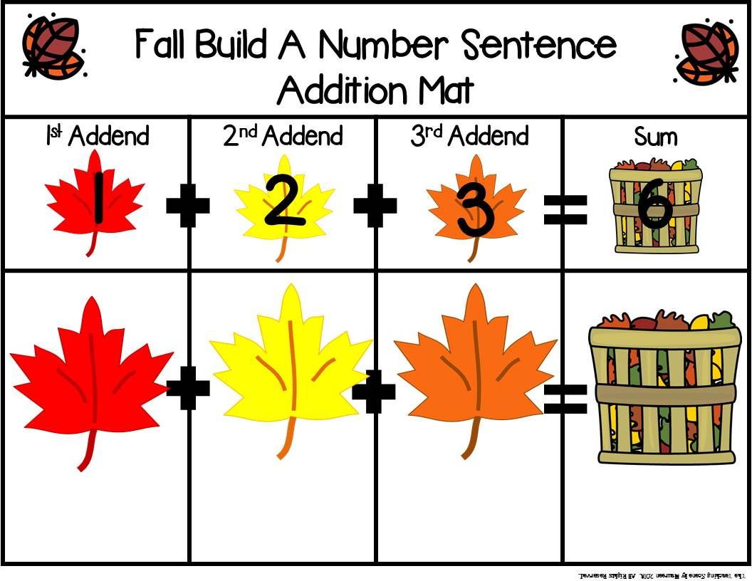 Fall Build 3 Addend Addition Amp Subtraction Number