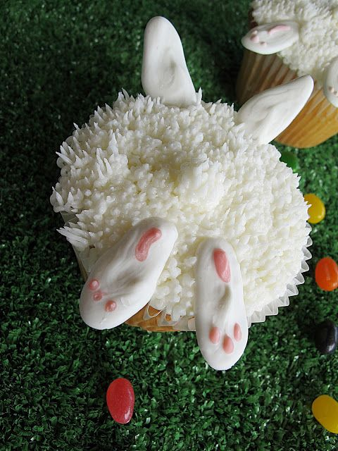 Bunny Bottom Cupcakes For A Bunny Rabbit Theme Baby Shower