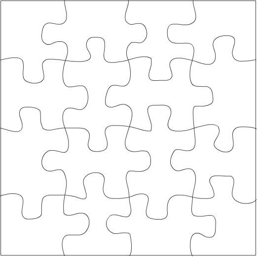 Youu0027ll use this feature, combined with a line template drawn in - puzzle piece template