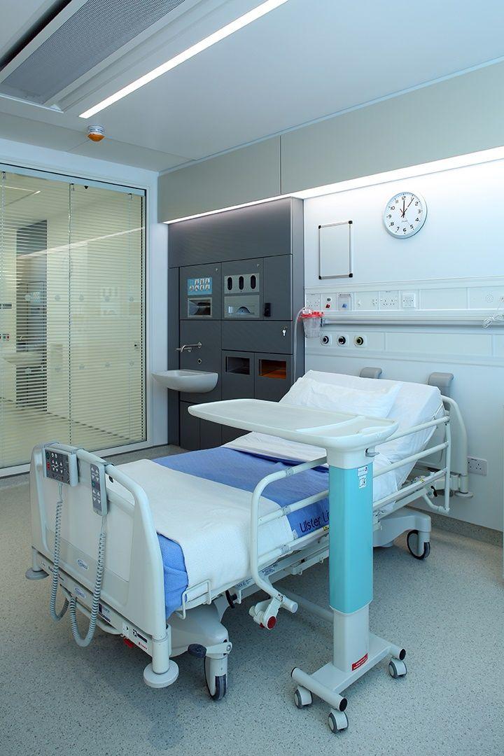 Patient Room Design: Ulster Hospital Single Bedrooms With Large Corridor