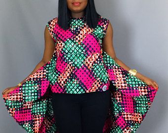 24c5816961127d African print loose high low top,African clothing,African tops,blouses,dashiki  top,dashiki fabric ,robe wax ,African blouses