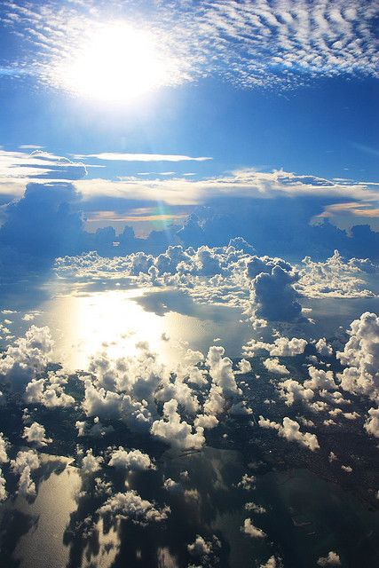 Sky High View From Airplane Sky And Clouds Beautiful Sky Clouds
